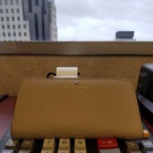 Kate Spade slim taupe bifold wallet